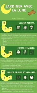 infographie jardiner avec la lune